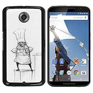iBinBang / Funda Carcasa Cover Skin Case - Cook Pencil Drawing Hat Small Man Kitchen - Motorola NEXUS 6 / X / Moto X Pro