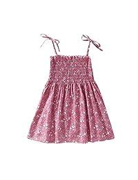 Vincent&July Baby Girls Lemon Flower Apple Sling Dress Summer Clothes Sundress