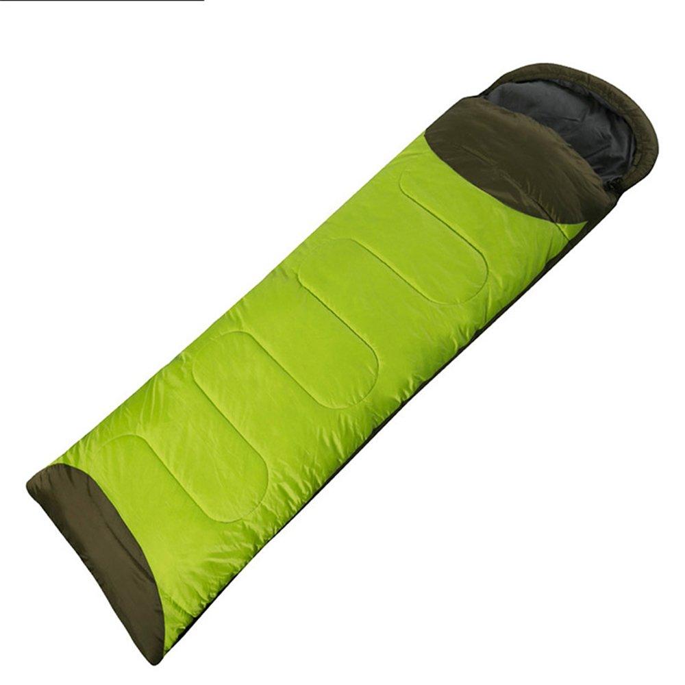 LWFB エンベロープ寝袋/スプライサブル/アウトドアキャンプハイキング屋外長方形単一の厚い綿の寝袋(190 + 30)* 72センチメートル B07CJLKSSQ Green-right Green-right