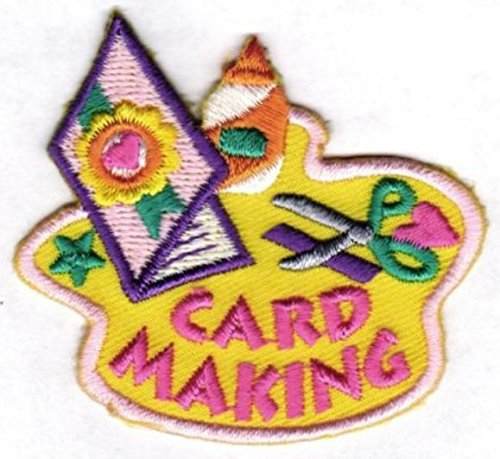 Cub Girl Boy CARD MAKING Embroidered Iron-On Fun Patch Crests Badge Scout Guides