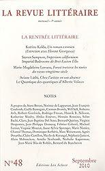 La Revue littéraire, N° 48, Septembre 201 : La rentrée littéraire