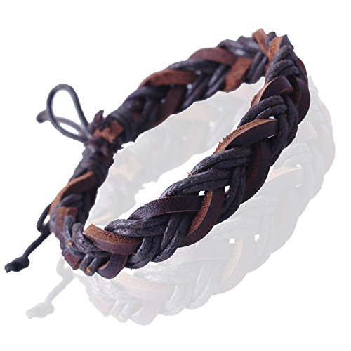Gemini Unisex Leather And Hemp Plaited Surfer Wristband Bracelets Great Valentine's Day Gifts Men,Women