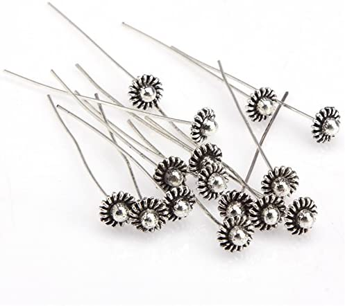 20pcs Antique Silver//Gold Tone Long Head Alloy Pins Finding For Jewelry Making