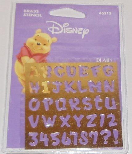 Disney Brass Stencils, Rumbly Tumbly Alphabet, 46515, Winnie The (Stencils Disney)