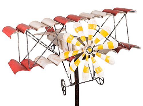 colourliving Carillon Avion Métal éolienne biplan style shabby vintage jardin