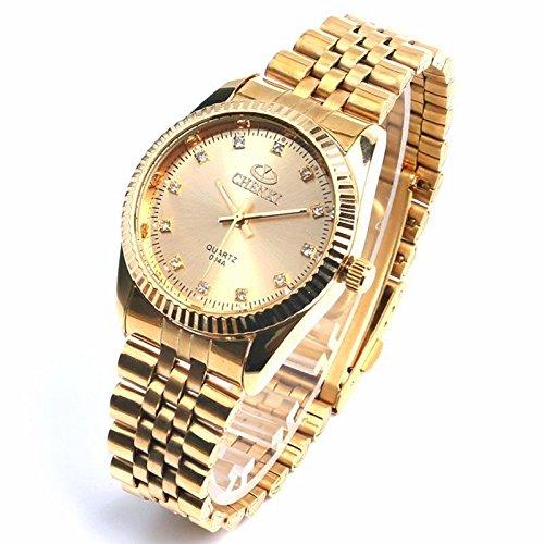 Reloj ,Relojes, Luxury, Watches ,Full Steel ,Top Brand ,High Quality ,Gold ,Mens, Golden, Quartz ,Clock,mens,mens Watches Top Brand Luxury,dress,famous ...