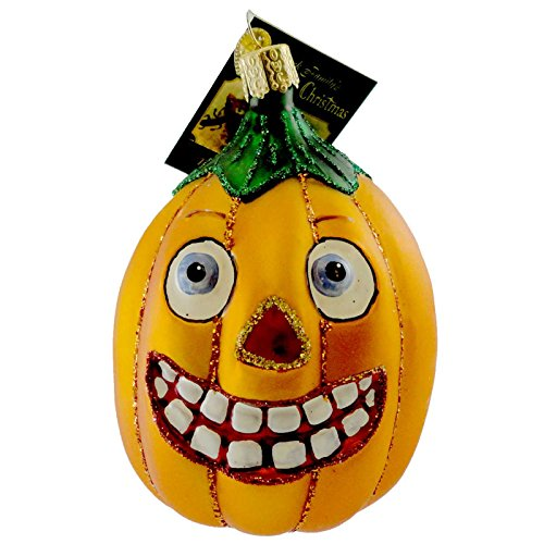 Old World Christmas VINTAGE JACK-O-LANTERN OBLONG Ornament Pumpkin 26042