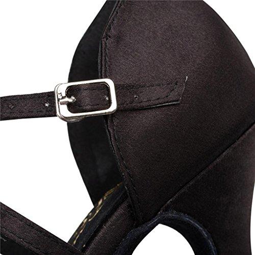 Dance Black Adjustable Width US Shoes Latin Women's Ballroom Salsa Monie Modern 8B Ra47wqXw