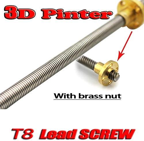 Consumer Electronics 3D printer 500mm Lead Screw T-Shape Bar Shaft ...