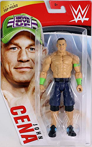 WWE Top Picks 6-inch Action Figures with Articulation & Life-Like Detail, John Cena, Multi