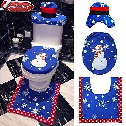 Awesome Amazon Com Somiti Toilet Seat Covers Christmas Bathroom Cjindustries Chair Design For Home Cjindustriesco