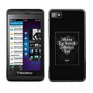 Caucho caso de Shell duro de la cubierta de accesorios de protección BY RAYDREAMMM - Blackberry Z10 - Cielo Lies Beneath A Madres Pies