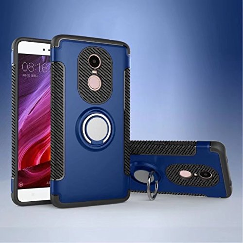 Price comparison product image Redmi Note 4X Case,Armor Dual Layer 2 in 1 Heavy Duty Shockproof Protection Case with 360 Degree Rotating Finger Ring Holder and Magnet Car Holder Case for Xiaomi Redmi Note 4X ( Color : Blue )