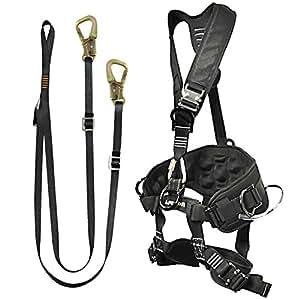 Fusion Climb Pro Backyard Zip Line Kit Harness Lanyard Bundle FK-A-HL-10