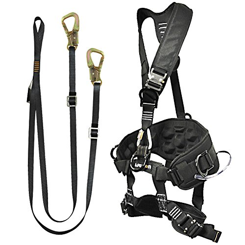 Fusion Climb Pro Backyard Zip Line Kit Harness Lanyard Bundle FK-A-HL-10