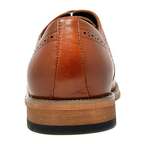 Bruno Marc Men's Oxford Dress Shoes Wingtip Genuine Leather Formal Shoes