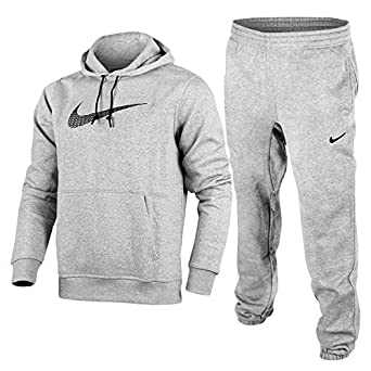 22b7746e5b93 Nike Men s Swoosh Logo Fleece Full Tracksuit Overhead Hoodie   Jogging  Bottoms ...