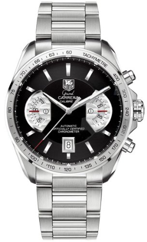 TAG Heuer Grand Carrera - Reloj (Reloj de Pulsera, Masculino, Acero, Acero