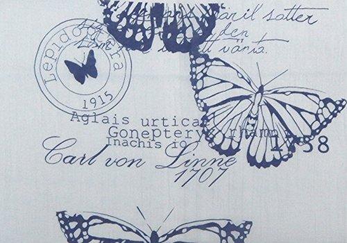 Foulard Écharpe tube pour femme élégant et tendance de la dernière collection by Ella Jonte bleu -Châle belle imprimé papillon - léger et très agréable à porter