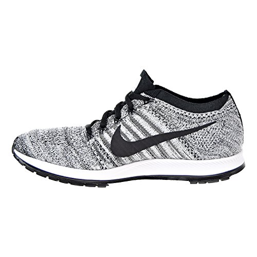 Streak 835994 M Nike Flyknit Wolf Shoes Running Black D 003 Grey White US Unisex 8 Black 5qF6qxp