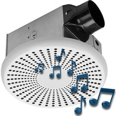 HOMEWERKS WORLDWIDE 7130-03-BT Bluetooth Bath Fan & Speaker (Homewerks Bluetooth Bath Fan)
