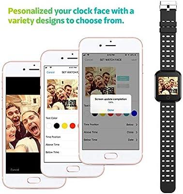 Azorex SmartWatch Multifunción Reloj Inteligente Cuadrado ...