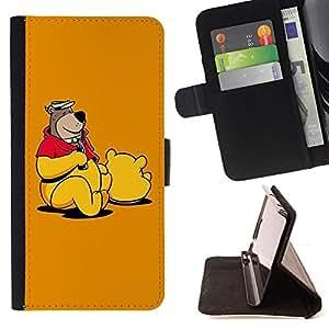- Funny Bear Costume/ Personalizada del estilo del dise???¡¯???¡Ào de la PU Caso de encargo del cuero del tir???¡¯????n del s - Cao - For Apple Iphone 5C