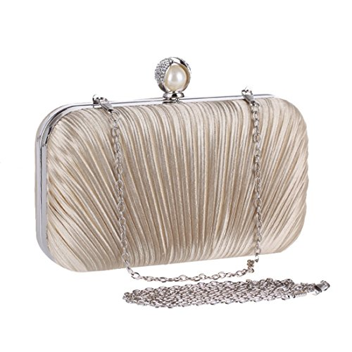 Fashion KERVINFENDRIYUN Handbag Diamond Fabric Apricot Bag Blue Pleated Color Women's Clutch Purse Bag Craft Bag Evening rxrUYI