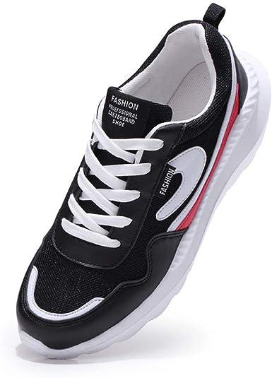Zapatos De Correr Para Hombres,Moda Actividades Al Aire Libre Running Ligeras Transpirables Zapatillas Deportivas De Malla Para Caminar Gimnasio Tennis Black Red 39-46EU: Amazon.es: Ropa y accesorios