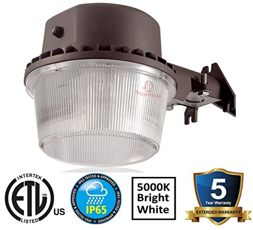 4800 Lumens - 40 watt -With Photocell - Outdoor wall light - 5000K - Barn Style LED uses only 35watts - Includes Dusk to Dawn sensor – LED Yard Light with photocell - LED wall lights outdoors