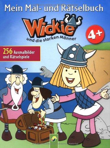Mein Mal- und Rätselbuch Wickie. Ab 4 Jahren: 265 Ausmalbilder und Rätselspiele