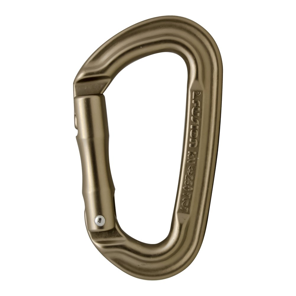 Fusion Climb Contigua II Military Color Edition Grooved Straight Gate Key Nose Carabiner Dusty Brown