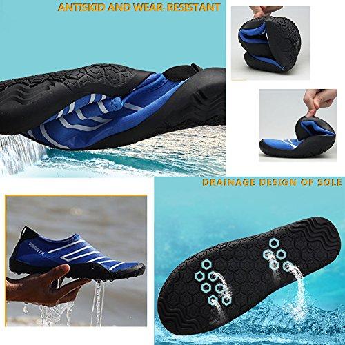 Dark Donna Elastico Antiscivolo Glow Barefoot Surf The Scarpe In Skin Da Fexkean Spiaggia Water Immersione Rosso Beach Traspirante Uomo Acqua fwqpUp