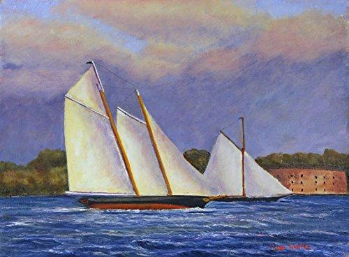 Race Schooner - Match Race, Schooner Yacht America & Marie, 1851