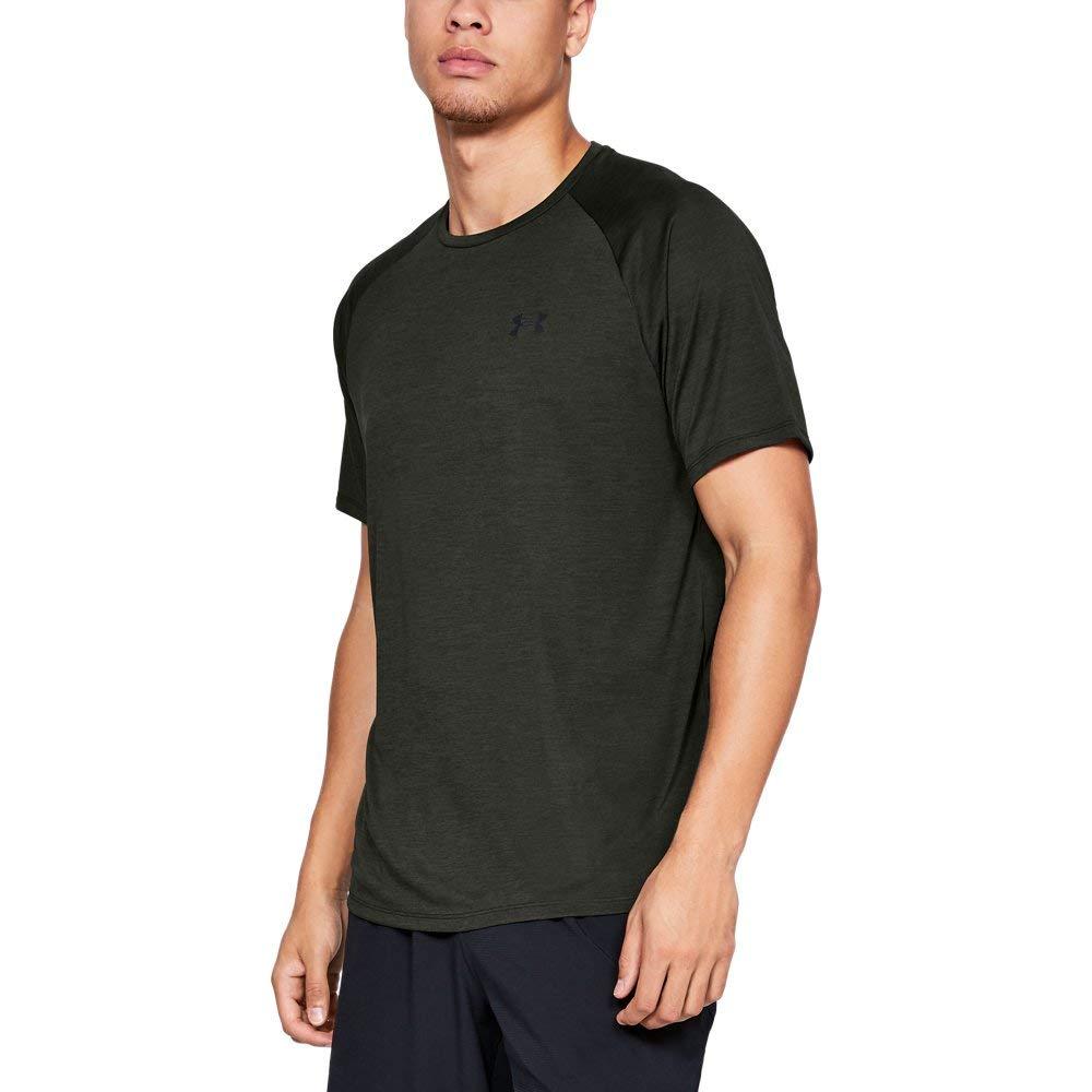 UNDER ARMOUR mens Tech 2.0 Short Sleeve T-Shirt, Artillery Green (357)/Black, XX-Large by Under Armour
