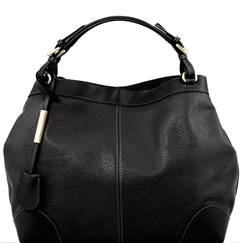 Tuscany Leather Ambrosia - Sac en cuir souple avec bandoulière Tl141516 (noir) Noir
