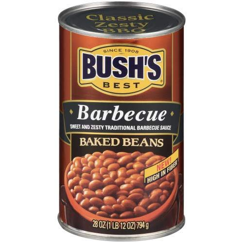BUSH's Barbecue Baked Beans - 28oz (Pack of 8)