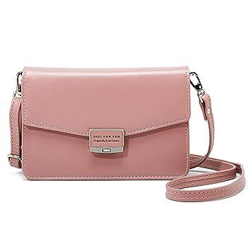 d3e88699eb79b kleine tasche mini tasche tasche umhängetasche Damentasche Handtasche+ PU  Leder Schultergur Rosa