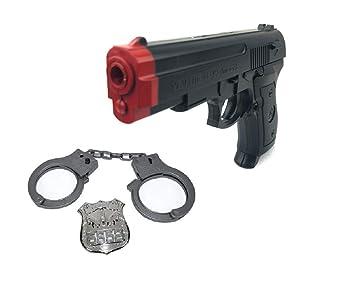 Pistola de Juguete Esposas y Distintivo Kit SWAT Juego Disfraz de ...
