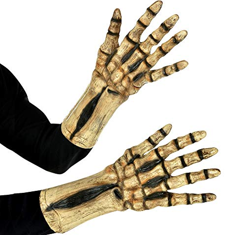amscan Skeleton Gloves for Adults, Halloween Accessories for Skeleton Costume, One Size
