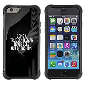 LASTONE PHONE CASE / Suave Silicona Caso Carcasa de Caucho Funda para Apple Iphone 6 / gentleman fashion suit text smart advice