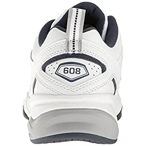 New Balance Men's MX608V4 Training Shoe,White/Navy,12 2E US
