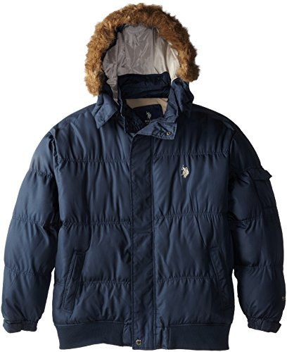 U.S. Polo Assn. Men's Big-Tall Short Snorkel Coat with Small Pony, Classic Navy, -