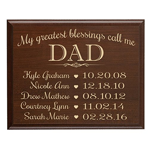 LifeSong Milestones Personalized Gifts for dad with Family Established Year Sign with Children