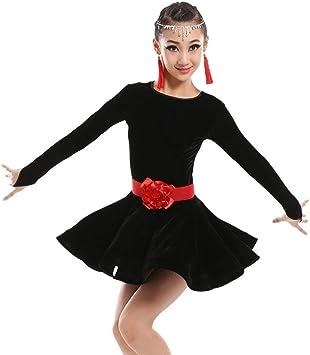 ZYLL Vestido de Baile Latino para niñas Salsa Latina Niños Faldas ...