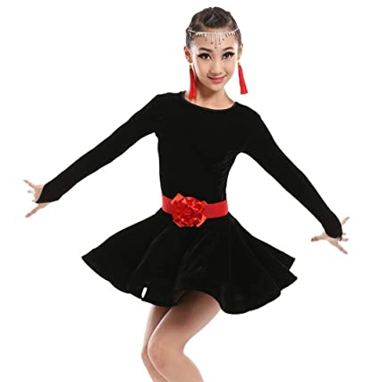 ZYLL Vestido de Baile Latino para niñas Salsa Latina Niños ...