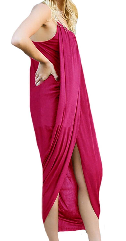 KXP Womens Sexy Slip Black Slit Irregular Dress