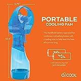 O2COOL Deluxe Misting Fan, 1, Light Blue