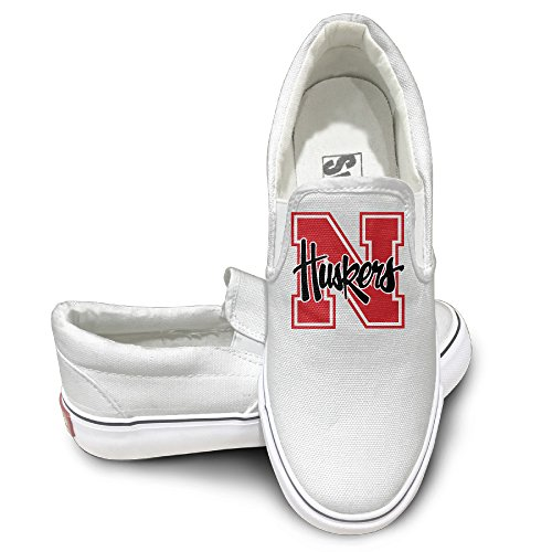 TAYC University Of Nebraska Cornhuskers Cool Flats-Shoes White