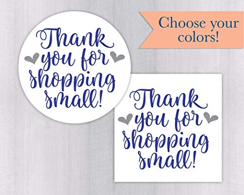Thank You For Shopping Small! Small Business Handmade Branding Stickers/Labels (#567-WH)